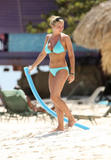 Gemma Atkinson | Blue Bikini on Beach | Papped | HQ x 34