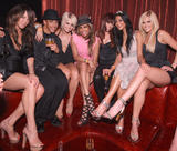 The Pussycat Dolls shows a lot of legs and cleavages at Nicole Scherzinger's Birthday Party at LAX Nightclub