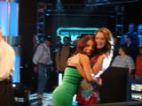 Layla Kayleigh TIGHT Green Dress World Poker Tour Candids x 6
